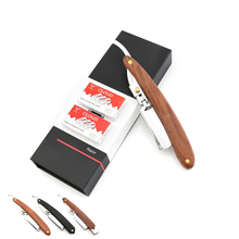 Egyenes borotva férfiak egyenes borotva borotva cserélhető penge borotva + 40PCS pengék borotva doboz 1PCS / LOT ÚJ