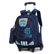 цены Children School Bag Fashion Boy Backpack Trolley Bag Kids Wheeled Bags Girls Backpack Mochila Infantil Com Rodinha Bolsos Escola
