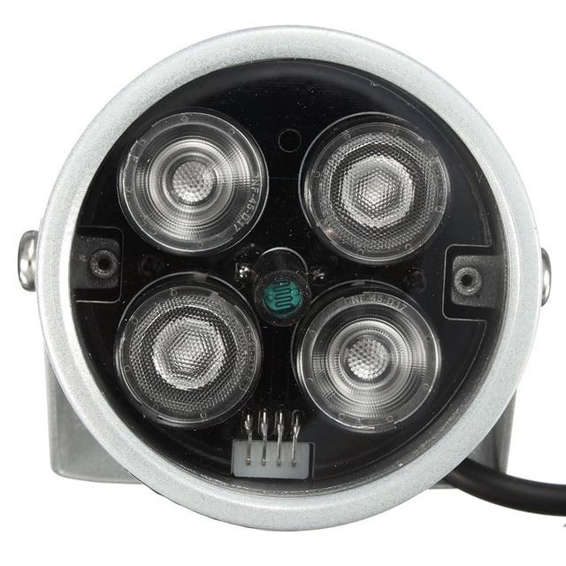 Горячие Продажи DC 12 В 2A CCTV4 Массива ИК-ПОДСВЕТКОЙ Подсветка ВИДЕОНАБЛЮДЕНИЯ Водонепроницаемый ИК Инфракрасного Ночного Видения Для Наблюдения камера