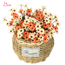1Pcs  Artificial Flowers Branch Daisy Thanksgiving Non-woven Fabrics Paper Flower Farmhouse Decor Home