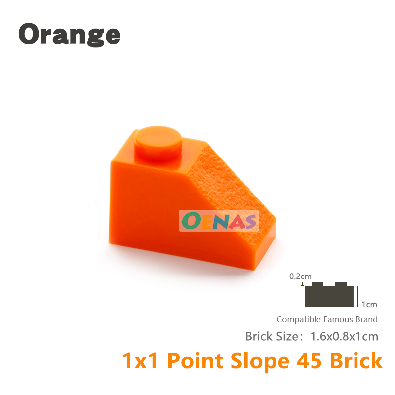 Slope Brick 45° 2 x 1 Inverted in Old Grey part no 3665 8x Lego