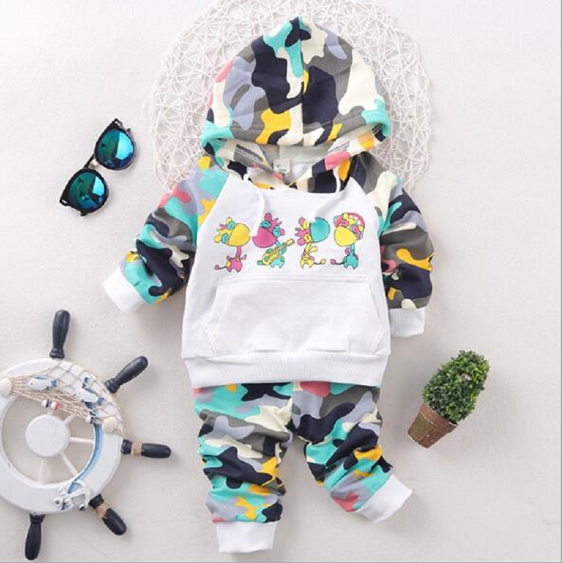 Baby Boy Clothing Sets animal cartoon Pattern Autumn spring cotton birthday Toddler coat +Pants hat newborn Kids Clothing Suit baby boys sets cartoon dinosaur animal shapes children s clothing spring fall flannel coat with hood pants kids wear 0 2 yrs