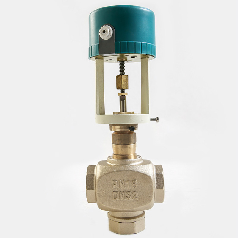 220V dirve Actuator  Electric three way regulating valve  Proportional integral valve For central air conditioning DN25-DN32 24v normally open normally close electric thermal actuator for room temperature control three way valve dn15 dn25