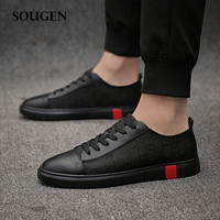 Male Shoes Krasovki Men Autumn Big Size Adult Chaussure Homme Casual Black Sneakers Platform Slip Shoes Male Size 47 Trainers