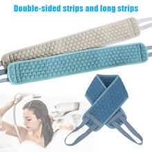 Банное полотенце, двустороннее длинное прочное полотенце, ЩЕТОЧНАЯ лента для чистки кожи тела, банное полотенце, уход за кожей