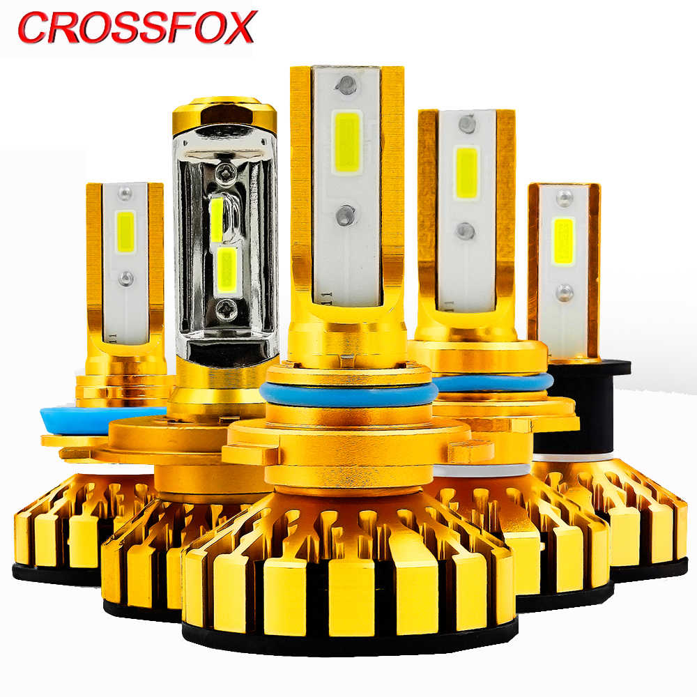 CROSSFOX 6000K Car Headlight Kit Canbus H1 H3 H11 9012 9005 9006 H4 LED Bulb 12V 50W 10000LM/Pair Automobile Headlamp Light