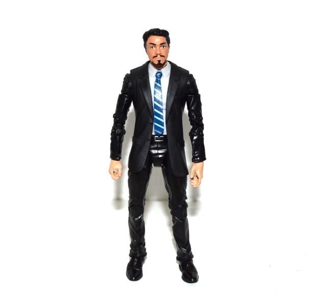 Marvel Legends Tony Stark dengan Kepala Agen Coulson Setelan Hitam Tubuh Aveners Baru Semua Tindakan Yang Berbeda Gambar Mainan Gratis pengiriman