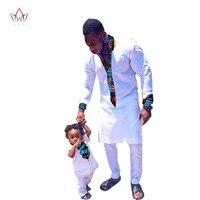 2017 Nova Moda por atacado áfrica Marca Correspondência de pai e Filho Bebê Roupas Conjuntos casuais Família africano algodão Quente BRWYN295