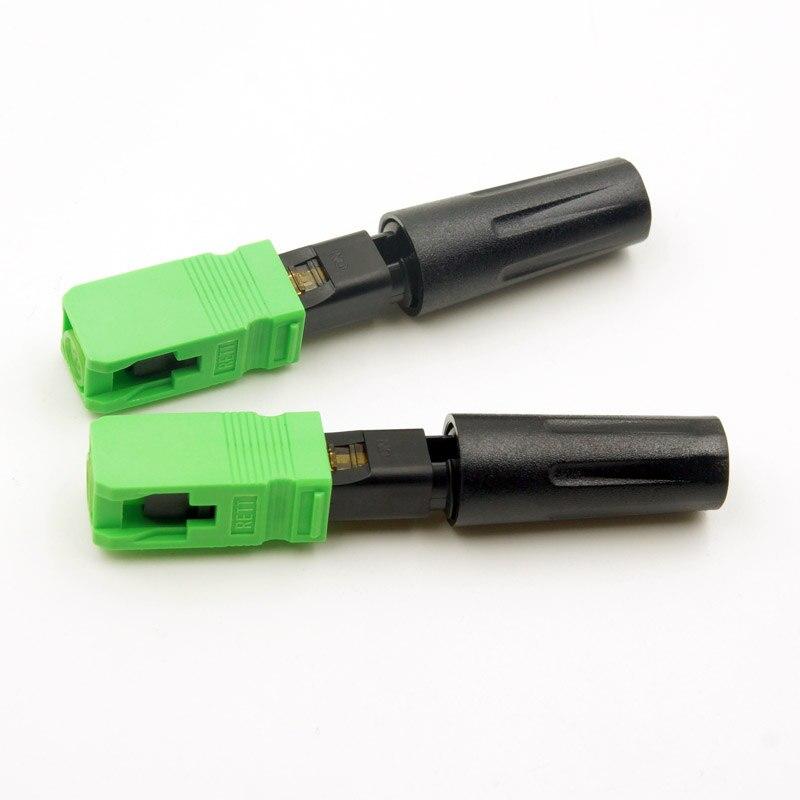 100 STÜCKE hohe qualität SC einzigen single-mode-glasfaser-hdmi-kabel SC APC schnellkupplung FTTH Fiber Optic Schnelle Stecker Freies verschiffen