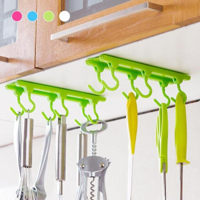 Kitchen Wall Door Self Adhesive Plastic Hooks Bathroom Sticky Hanger ...