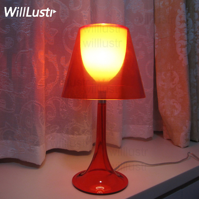 Modern Transparent Table Lamp Table Light Living Room Bedroom Table