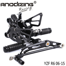 Full CNC Aluminum Motorcycle Adjustable Rearsets Rear Sets Foot Pegs For YAMAHA YZF R6 2006 2007 2008 2009 2010 2011 2012 2015