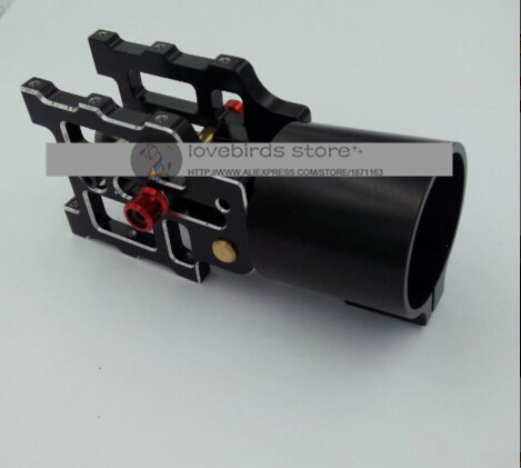 the newest DIY CNC aluminum alloy Automatic spring folding tube mount D30/35mm for DIY large multirotor drones Agriculture UAV цена