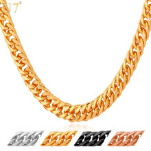 Gold Chain For Men Jewelry With 18K Stamp 2015 New Trendy Real Plated 22 Length Curb Necklace  Wholesale N389