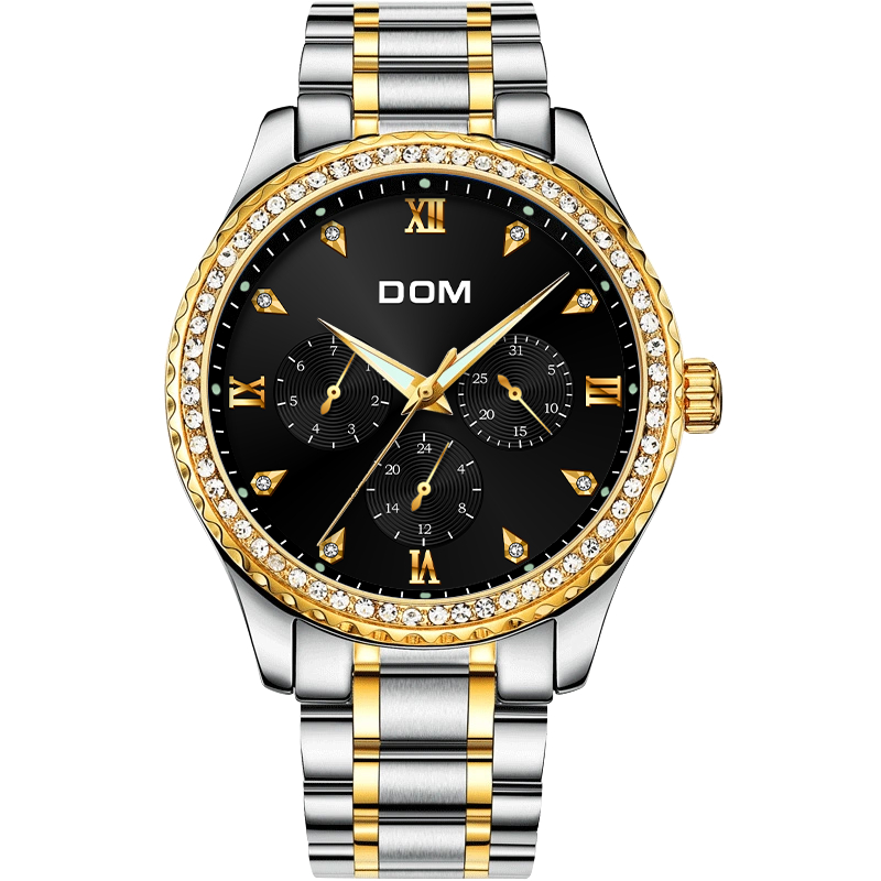 DOM Mens Watches Top Brand Luxury Waterproof Gold Quartz reloj de - Relojes para hombres - foto 2