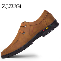 Z J ZUGI Spring Autumn Breathable PU Leather Casual Men Shoes Big Size 39 44 Shoes