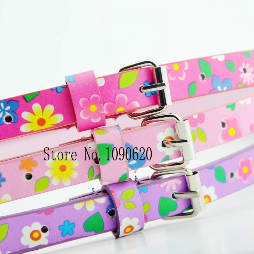 Kids flower belt cute waist belt for children students girl belt fashion dress decoration 75cm long
