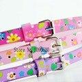 Niños flor cinturón cinturón lindo para los niños estudiantes chica decoración de la manera de la correa 75 cm de largo