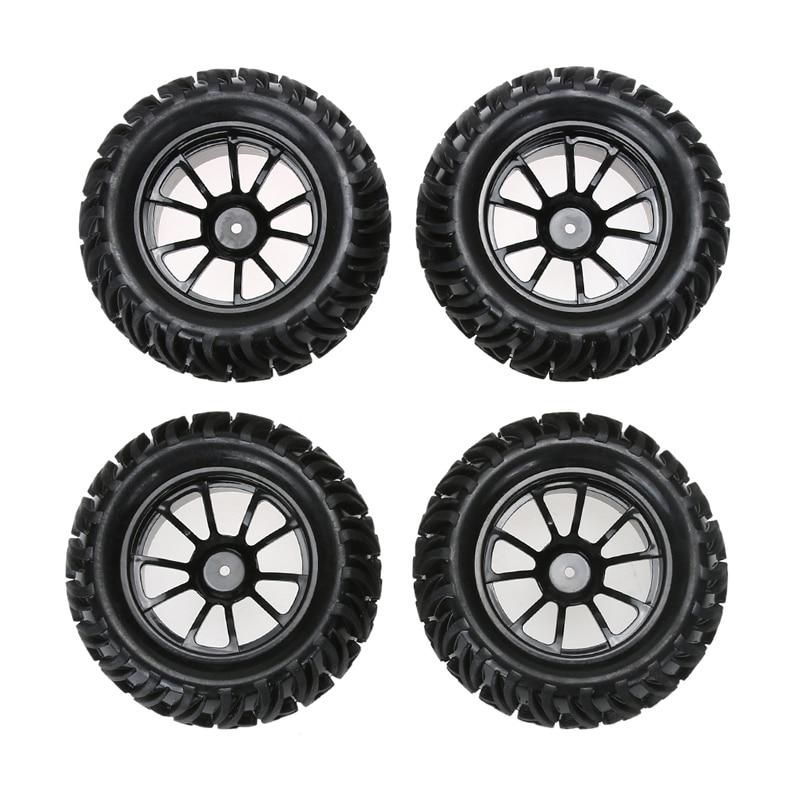 4PCS Wheel Rim & Tires For HSP 1:10 Monster Truck RC Car 12mm Hub Truck Wheel Useful Car Accessories&Props
