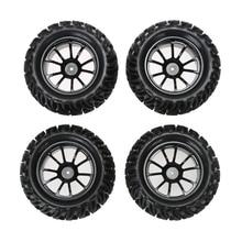Nuevo 4 unids de rueda y neumáticos para hsp 1:10 monster truck rc car 12mm hub fci #