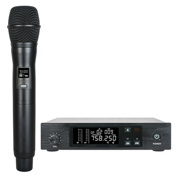 UHF PRO Wireless Microphone System Handheld Cordless Microphone Vocal Mic frequency adjustable IR Sync for Stage Live Karaoke DJ