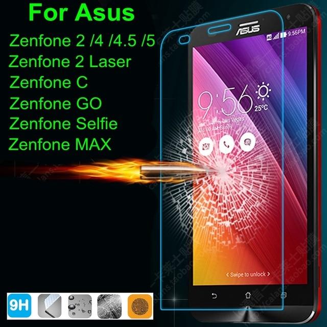0.3mm Front Premium Tempered Glass Screen Protector Film <font><b>Case</b></font> For <font><b>ASUS</b></font> <font><b>Zenfone</b></font> 2 ZE500CL ZE551ML <font><b>5</b></font> Laser ZE500KL ZE550KL Go MAX
