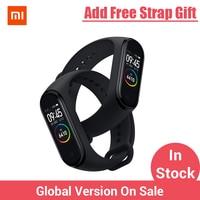 Xiaomi Mi группа 3 4 глобальная Версия смарт-Браслет фитнес-браслет часы 3 большой сенсорный экран сообщение время сердечно
