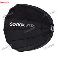 Godox Портативный P120L 120 см Глубокий параболический софтбокс Bowens студийная вспышка Speedlite отражатель фотостудия Softbox CD35