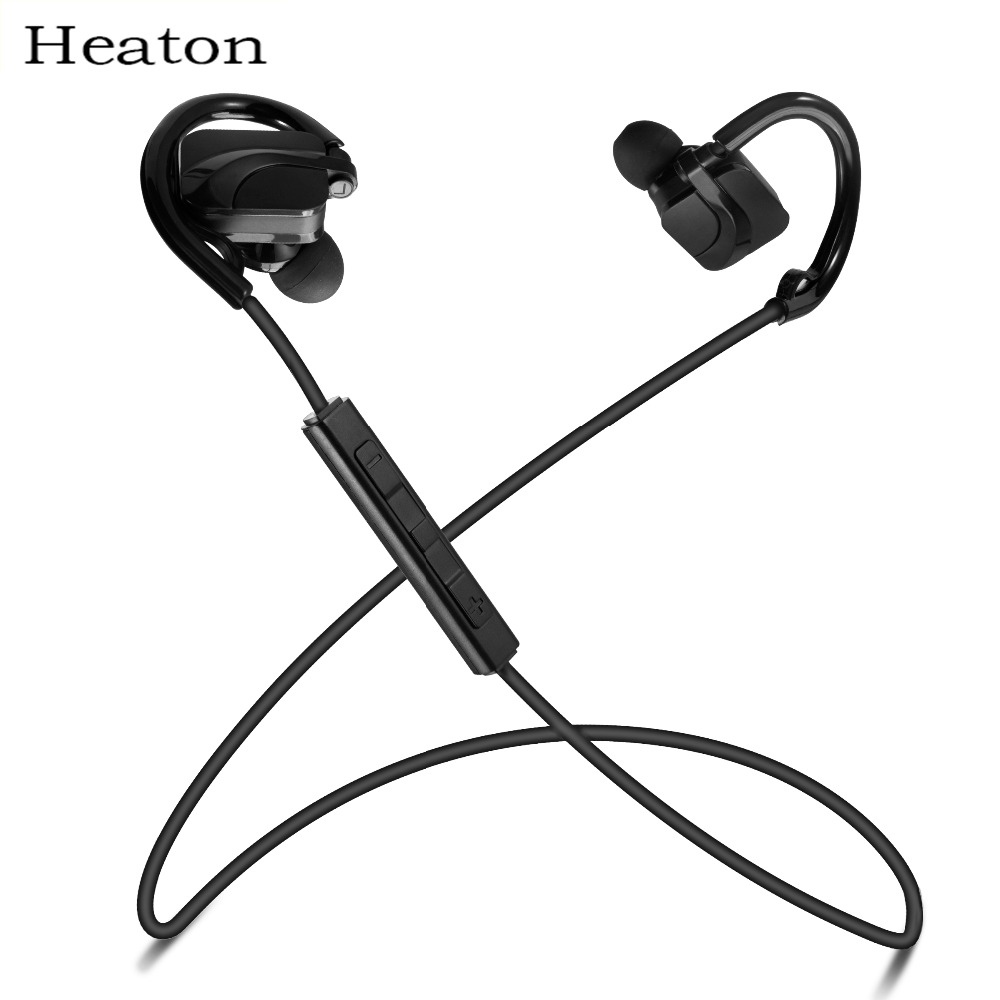 Heaton Sports Bluetooth Headphones Headset Voice Command Handsfree Wireless Headset Running Sports Music Earphone with Mic bq 618 wireless bluetooth v4 1 edr headset support handsfree earphone with intelligent voice navigation for cellphones tablet
