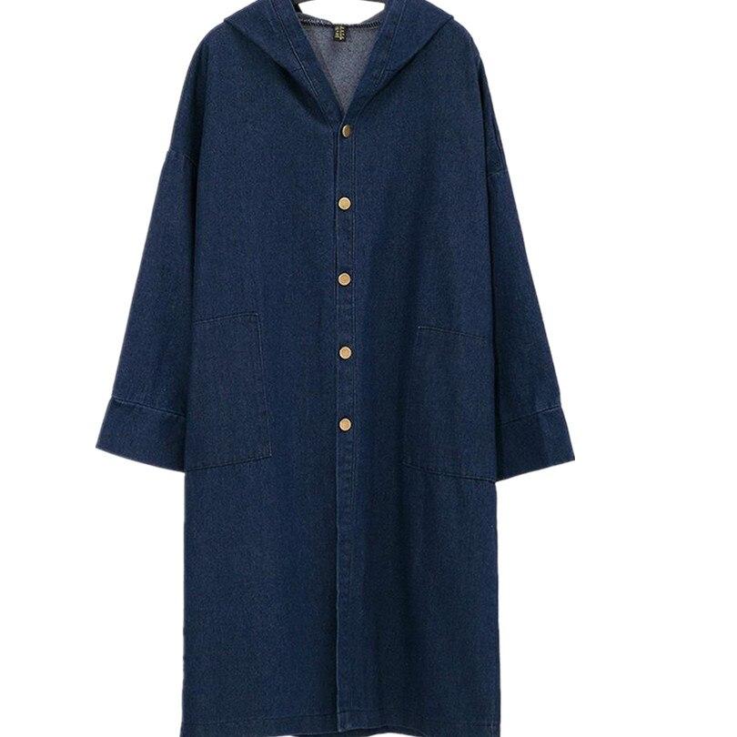 New loose coat Denim   Trench   Loose Cardigan Coat Boyfriend Coat