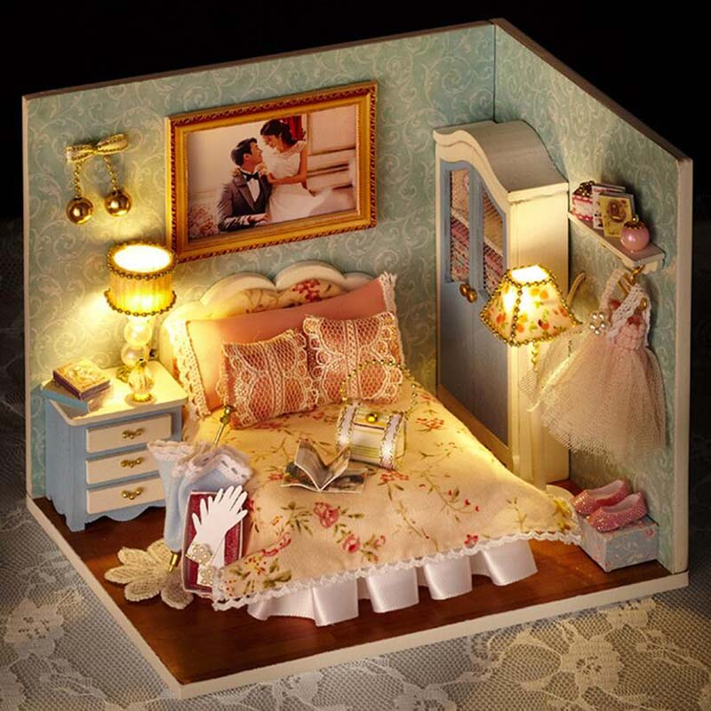 Assemble Miniature Doll House Lighting Miniature Dollhouse