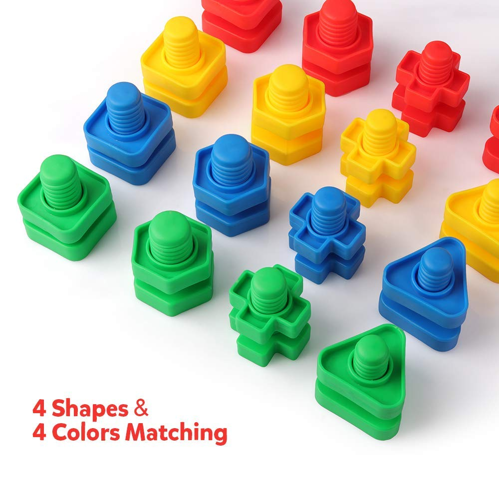 Nuts and Bolts Set Building Construction Toys 32PCS Occupational Therapy Tools Toy Matching Fine Motor Skills for Toddlers BabyNuts and Bolts Set Building Construction Toys 32PCS Occupational Therapy Tools Toy Matching Fine Motor Skills for Toddlers Baby