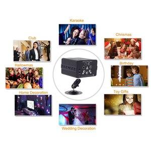 Image 5 - YSH barra estroboscópica con luces para dj, proyector láser con 120 patrones, luz de discoteca activada con sonido, escenario para fiestas, habitación y hogar