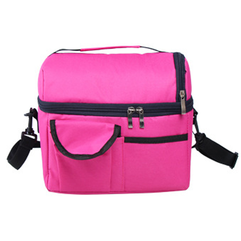 2018 Homeda Hot Solid Lunch Bag Portable Insulated Canvas Iunch Bag Thermal Food Picnic Lunch Bags For Women Kid Q-21