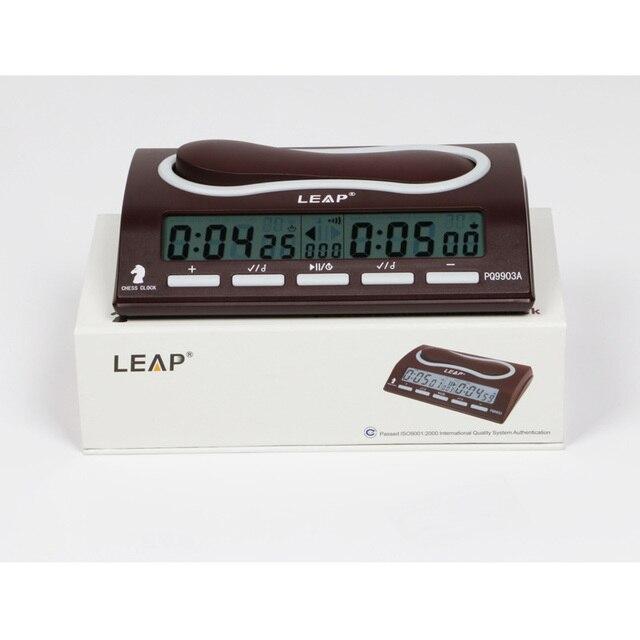 1c638e6c1a4 LEAP Professional jogos de xadrez Relógio de Xadrez Eletrônico Digital  relógios de Contagem Regressiva Esportes Competição