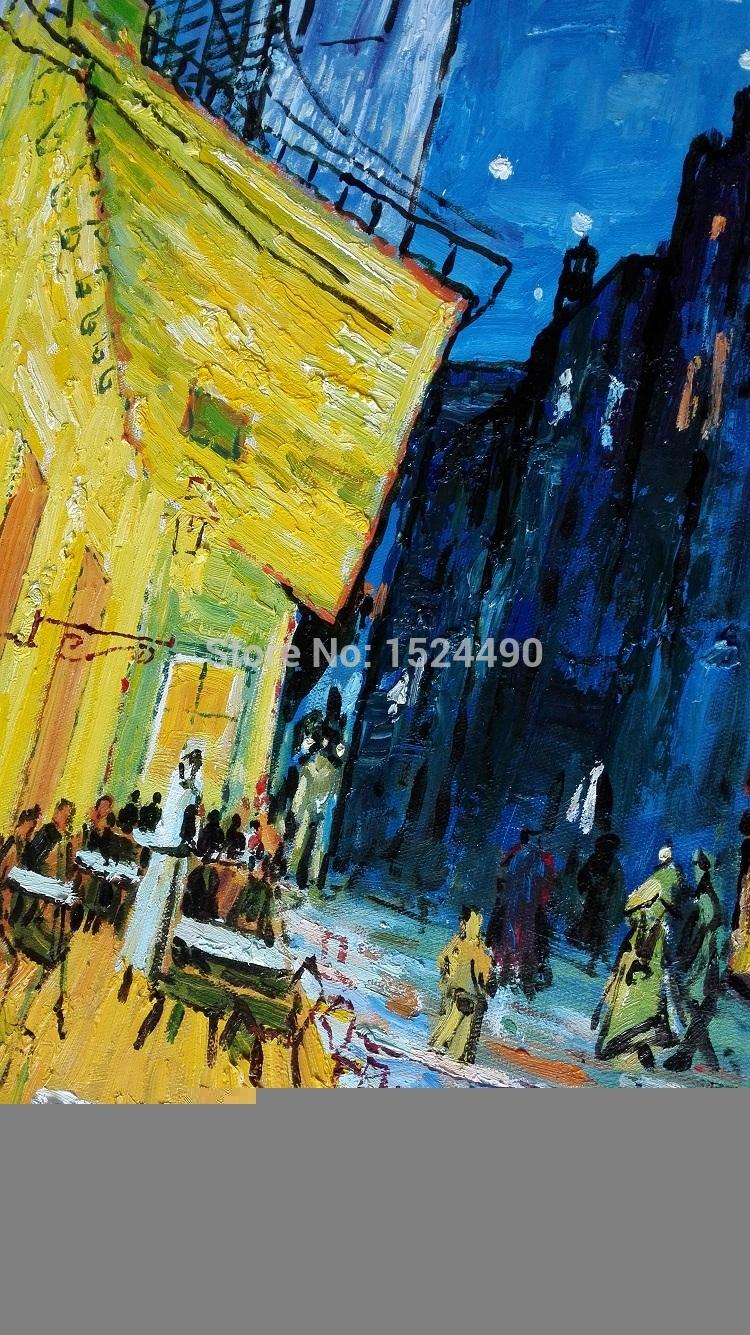 Famous cafe painting - Aliexpress Com Buy 100 Handpained Famous Oil Painting Cafe Terrace At Night Van Gogh Oil Painting On Canvas Abstract Wall Decor Picture 60x90cm From