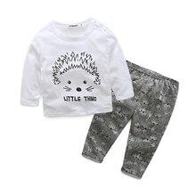 Tz1031 Новорожденный Одежда Устанавливает Весна Осень Детская Одежда О-Образным Вырезом Коробки печати Белый Мода Дети Костюмы футболки + Брюки 0-3 Лет(China (Mainland))
