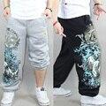 Hip hop b-boy mens estilo punky de los hombres pantalones de hip-hop danza pantalones deportivos pantalones pantalones casuales