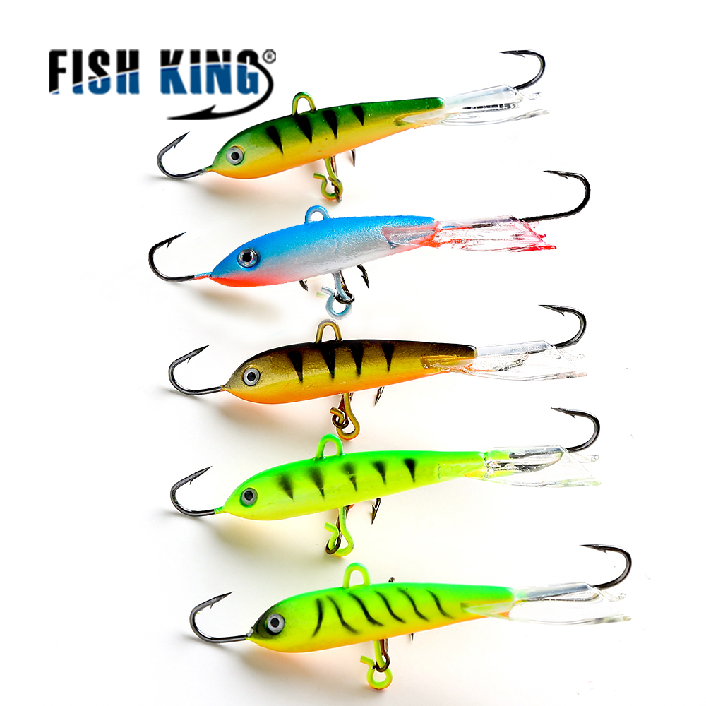 FISH KING 1PC 16G 7.5CM Ice Fishing Lures Winter Fishing Baits Lead Jigging Bait Hard Lure Balancer For Fish 1 pack clean dry maggots for fishing high protein nutritious fish bait food winter carp fishing baits