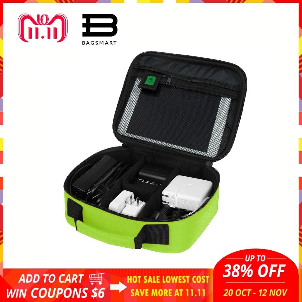BAGSMART 2018 Waterproof Nylon Travel Electronics Organizer Casual Cosmetic Bag Black Luggage Travel Bag Cell Phone Case стоимость