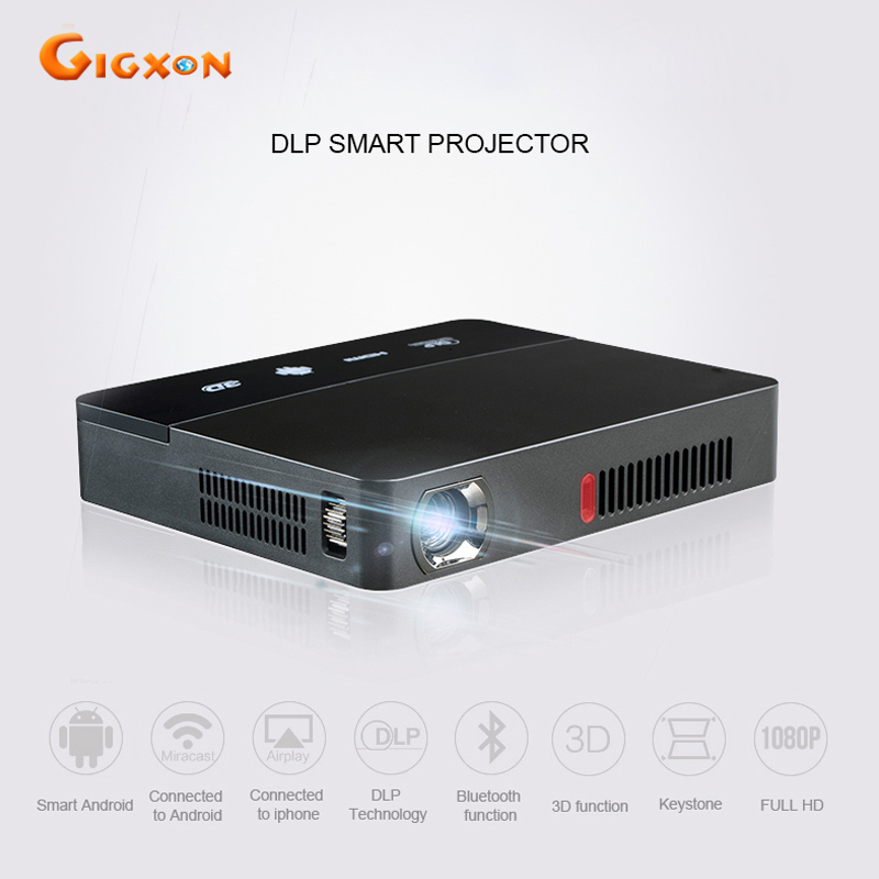Gigxon - G601 mini smart DLP projector 1600 lumens Android 4.4 WiFi Bluetooth for classroom home cinema office RD-601 projector mini projector wifi smart dlp projector full hd bluetooth home theater projector 1080p wifi android hdmi