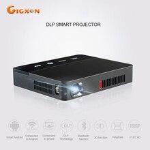 Gigxon-g601 mini inteligente proyector dlp 1600 lúmenes android 4.4 wifi bluetooth para el aula rd-601 oficina de cine en casa proyector