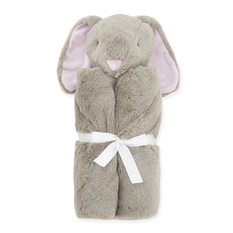 Младенческая обертка детское одеяло фланелевый животный узор 76*76 см зимний подарок реквизит для фотосъемки пеленание многоцветный детское одеяло - Цвет: brown rabbit