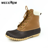 Women Boots New Winter Warm High Top Ankle Boots Lady Waterproof Rainboots Women S Plush Shoes