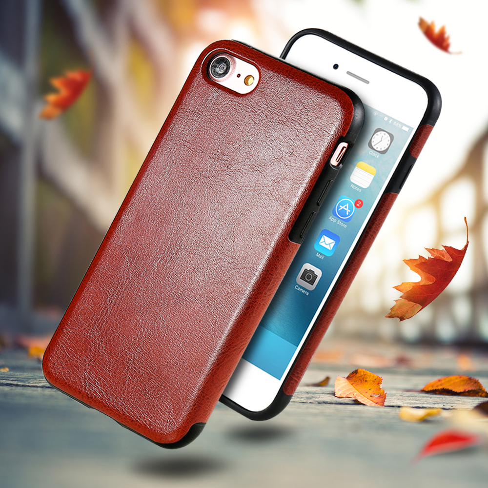 FLOVEME Retro Leather Case for iPhone 6 6S 7 Vintage Mobile Phone Bag Case for iPhone 6 6s Plus 7 Plus Coque Accessories PU