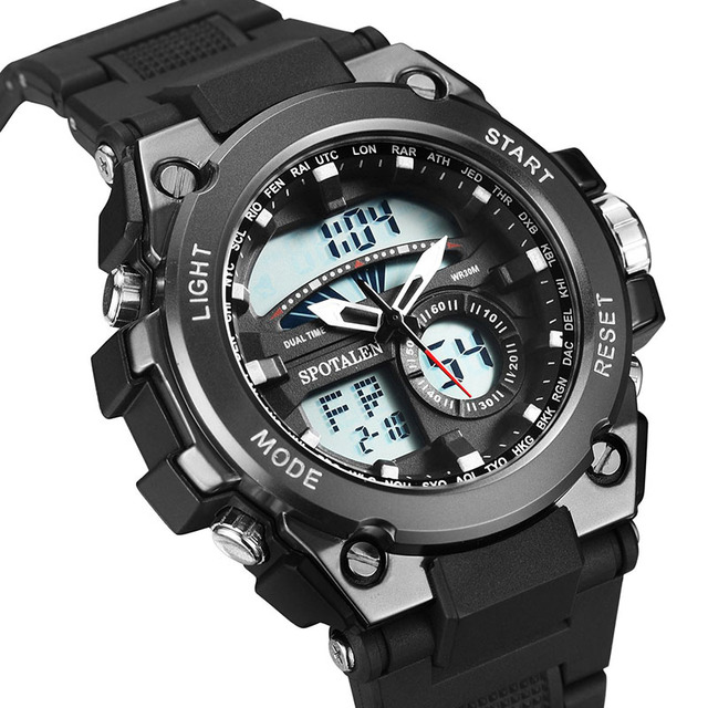 Nuevo Reloj Del Deporte Del Ejército Militar Hombres Reloj Digital Resistente Al Agua Fecha Calendario LED Electrónica Relojes Masculinos relogio masculino