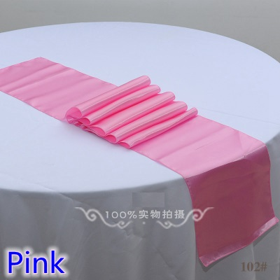 Pink Colour High Quality Satin Table Runner Wedding For Linen Table Covers Moderm Party And Wedding Decoration Wholesale