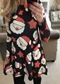 2016 Women Autumn Chrismas Sexy Winter Dress Girls Printing Long Sleeves Mini Sundress Evening Party Dress S/M/L/XL