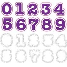10 см большие цифры 0-9 Вырубные штампы и пластиковые трафареты бумага, карточка, альбом, делая шаблон для скрапбукинга ремесленные новые штампы Декор