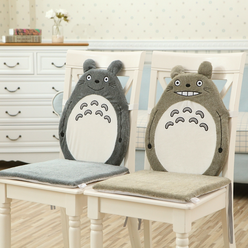 1pc 35x35cm 2 Patterns Totoro Cushion Chinchilla Pillow Plush Toy Hayao Miyazaki Totoro Blanket Home Chair Sofa Big Cushion Gift Up-To-Date Styling Stuffed Animals & Plush Plush Pillows